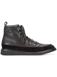 Valas Hiking Sneakers Men Calf Leather Suede Rubber 12 Black