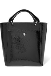 Elizabeth And James Eloise Small Faux Patent Leather Tote Black