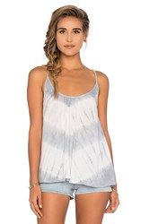 Blue Life Criss Cross Back Cami Light Gray