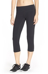 Pink Lotus 'Elite Performance' Capris Black