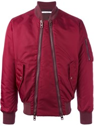 Givenchy Double Zip Bomber Jacket Red