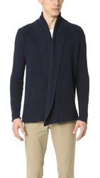 Gant The Slub Gathering Cardigan Navy