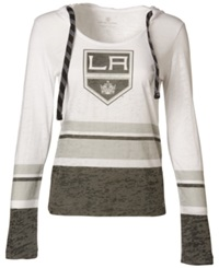 Levelwear Women's Long Sleeve Los Angeles Kings Hooded T Shirt White