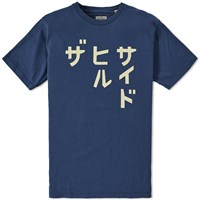 The Hill Side Katakana Printed Tee Blue