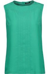 Raoul Pintucked Crepe Top Jade