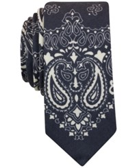 Bar Iii Men's Bandana Print Tie Only At Macy's Charcoal