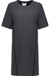 3.1 Phillip Lim Silk Trimmed Cotton Mini Dress Gray