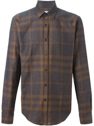 Burberry London Plaid Shirt Brown
