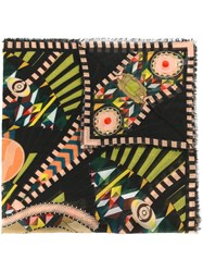 Givenchy Egyptian Mask Printed Scarf Multicolour