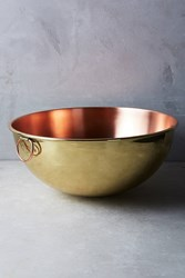 Anthropologie Copper And Brass Mixing Bowl Gold