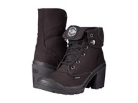 Palladium Baggy Heel Black High Rise Women's Lace Up Boots