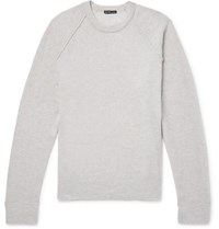 James Perse Honeycomb Knit Cashmere Sweater Cream