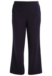 Evans Picasso Trousers Navy Dark Blue