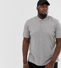 Jack And Jones Essentials Plus Size Basic Polo In Grey