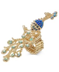 Thalia Sodi Gold Tone Multi Stone Peacock Stretch Ring Only At Macy's