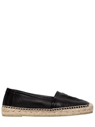 Saint Laurent 20Mm Logo Nappa Leather Espadrilles