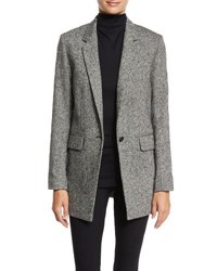 Rag And Bone Ronin Wool Blend Blazer Black White Black White