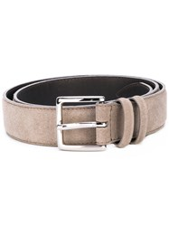 Orciani Buckled Belt Men Leather 90 Nude Neutrals