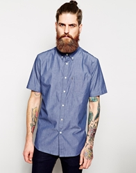 Element Shirt In Chambray Short Sleeves Darkdenim