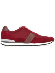 Paul Smith Ps By Contrast Strap Sneakers Red