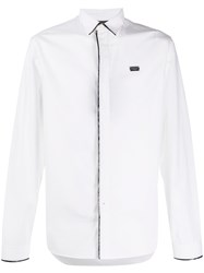 Philipp Plein Shimmery Trim Shirt White