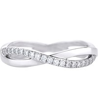 De Beers Infinity White Gold And Pave Diamond Ring