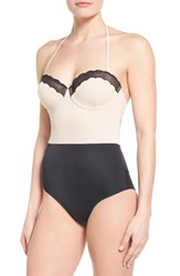 Topshop Women's Scallop One Piece Swimsuit