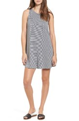 Soprano Women's Stripe Shift Dress Heather Grey
