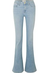Frame Le High Flare Mid Rise Flared Jeans Light Denim