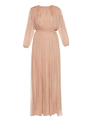 Lanvin Rope Tie Long Sleeved Silk Gown
