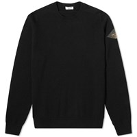 Saint Laurent Patch Logo Knit Crew Black