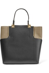 Lanvin Two Tone Leather Tote Black