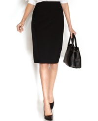 Alfani Classic Pencil Skirt Deep Black
