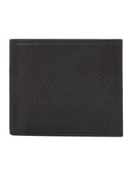 Hugo Boss Future Geo Embossed Leather Coin Wallet Black