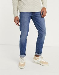 Wrangler Larston Slim Tapered Jeans Navy