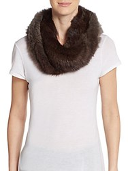 La Fiorentina Rabbit Fur Muffler Brown