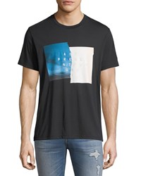 7 For All Mankind Men's Past Present Future Graphic T Shirt Black