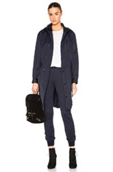 Atm Anthony Thomas Melillo Techno Parka Jacket In Blue