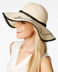 Inc International Concepts Beach This Way Floppy Hat Only At Macy's Natural Black