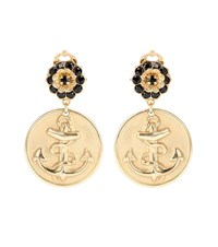 Dolce And Gabbana Anchor Clip On Earrings Gold