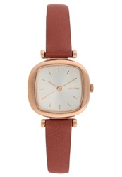 Komono Moneypenny Watch Rose Gold Dark Brown
