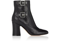 Gianvito Rossi Women's Double Buckle Leather Ankle Boots Black
