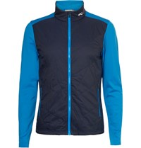 Kjus Golf Retention Quilted Shell And Jersey Jacket Navy