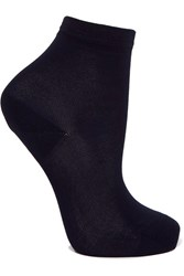 Maria La Rosa Silk Blend Socks Midnight Blue