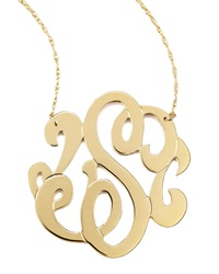 Jennifer Zeuner Jewelry Jennifer Zeuner Swirly Initial Necklace S Gold