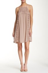 Socialite Crochet Woven Cami Dress Beige