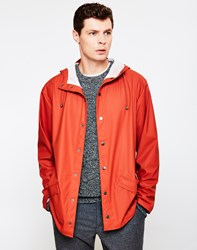 Rains Jacket Rust Brown
