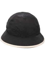 Y 3 Logo Embroidered Bucket Hat Black