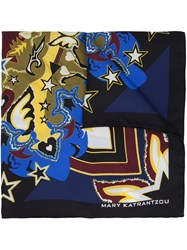 Mary Katrantzou Abstract Print Scarf Black