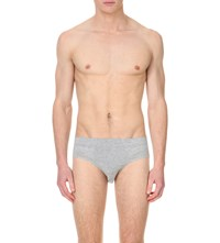 Zegna Mid Rise Jersey Briefs Grey
